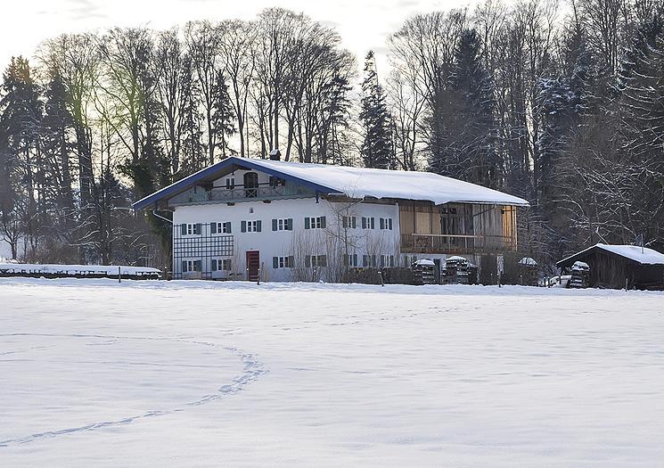 Das ehemalige Bauernhaus | Am Roseneck Prien im Winter